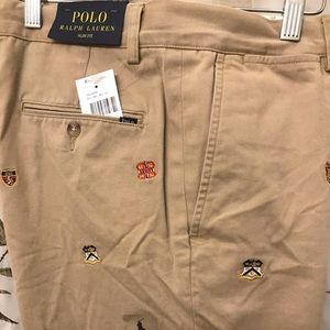NWT Polo Ralph Lauren Varsity Embroidered Chino